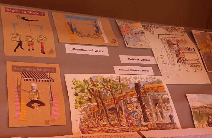Algunas de las obras de los cinco ilustradores