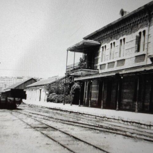 Antigua línea de ferrocarril conocida como el tren de Arganda