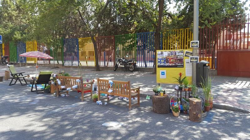 Performance Parking Day en el colegio Montserrat