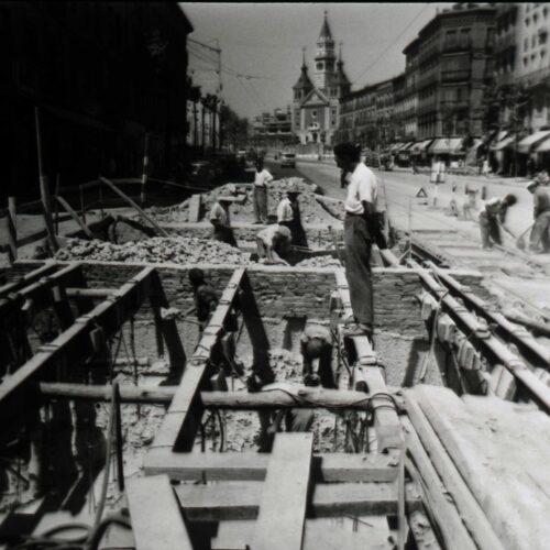 Obras metro Menendez Pelayo 1940