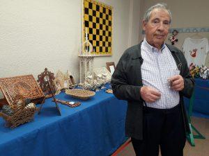 Florencio Moreno, profesor taller marquetería