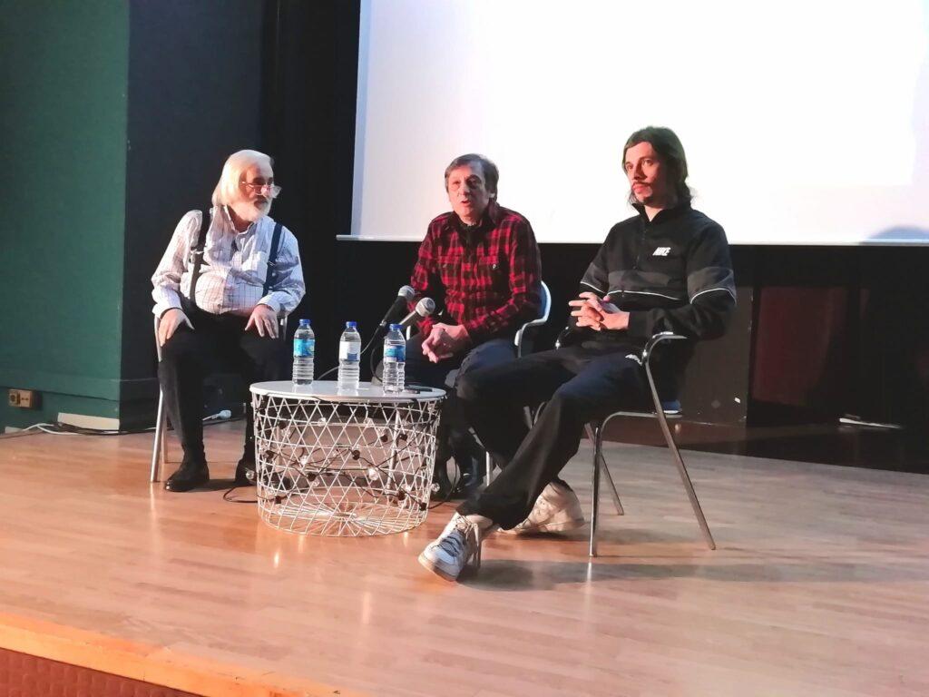 """Coloquio de """"Quinqui Stars"""", con su director Juan Vicente Córdoba y su protagonista El Coleta (Ramsés Gallego)."""