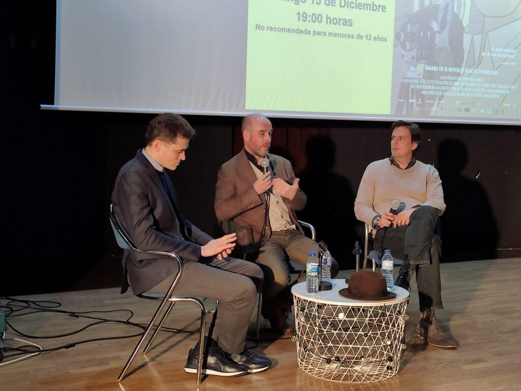 Coloquio «Buñuel en el Laberinto de las Tortugas» con su director Salvador Simó y el compositor de su banda sonora Arturo Cardelús.