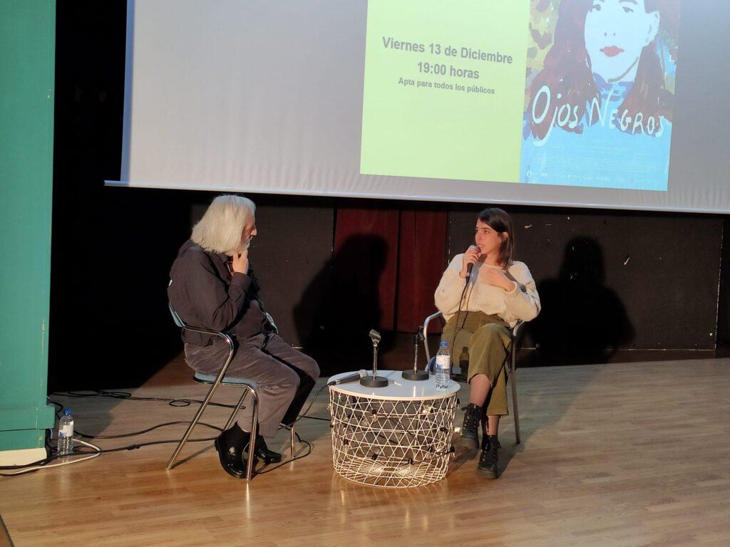 """Coloquio de """"Ojos negros"""" con su directora Marta Lallana."""