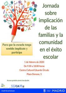 jornada gratuita 'Implicación de las familias y la comunidad en el sistema educativo'