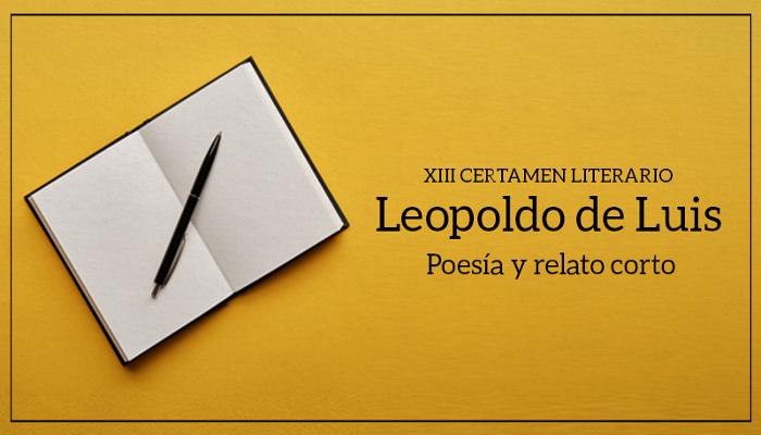 Cartel XIII Certamen Leopoldo de Luis de poesía y relato corto de distrito Tetuán