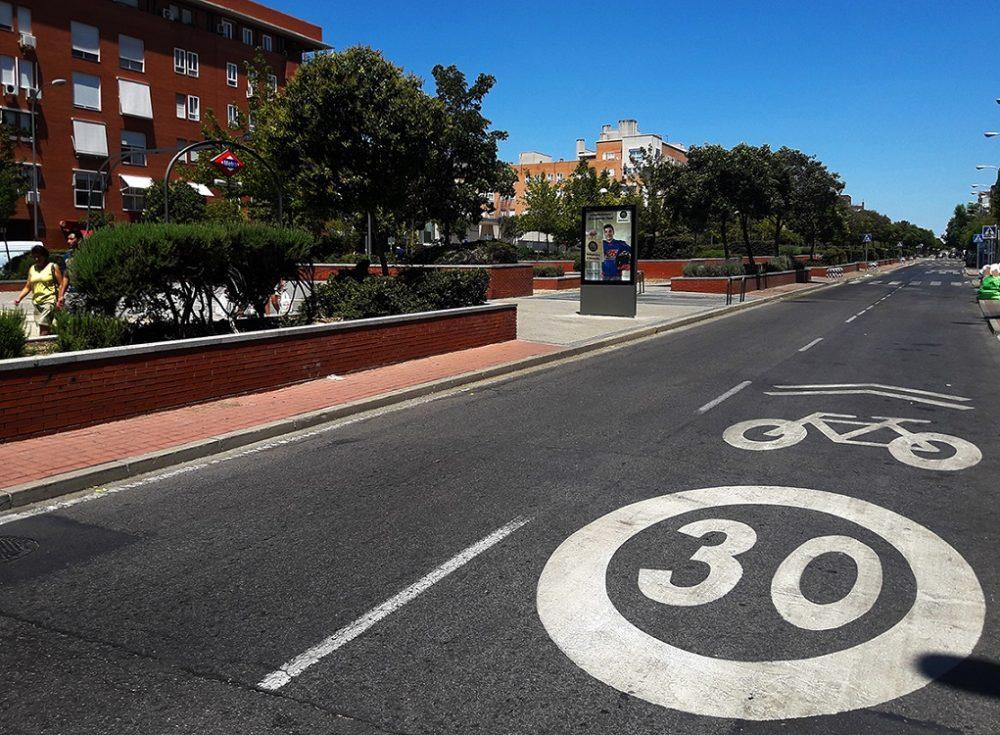 Ciclocarril Bulevar Indalecio Prieto de Vicálvaro