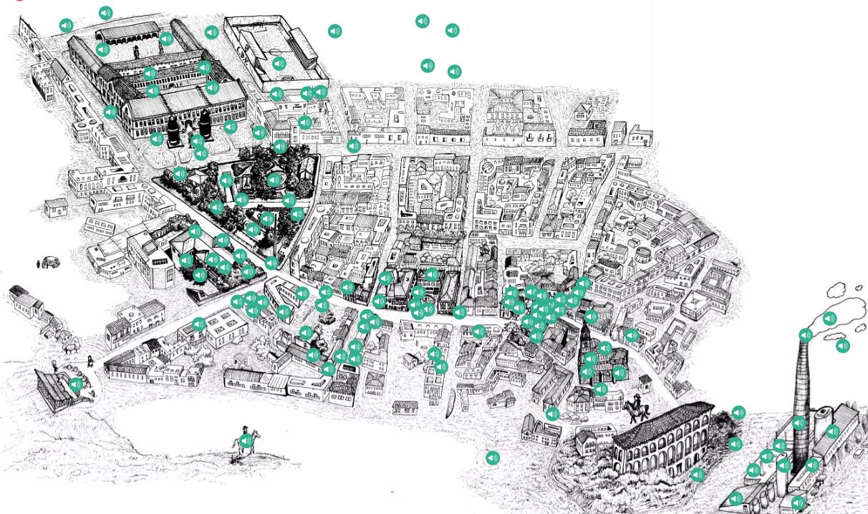 mapa de los recuerdos de Vicálvaro