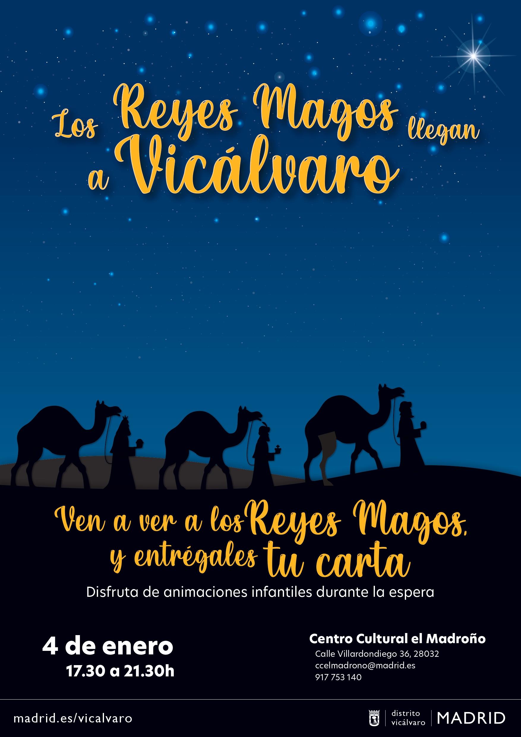 Cartel Reyes Magos Vicálvaro 2021