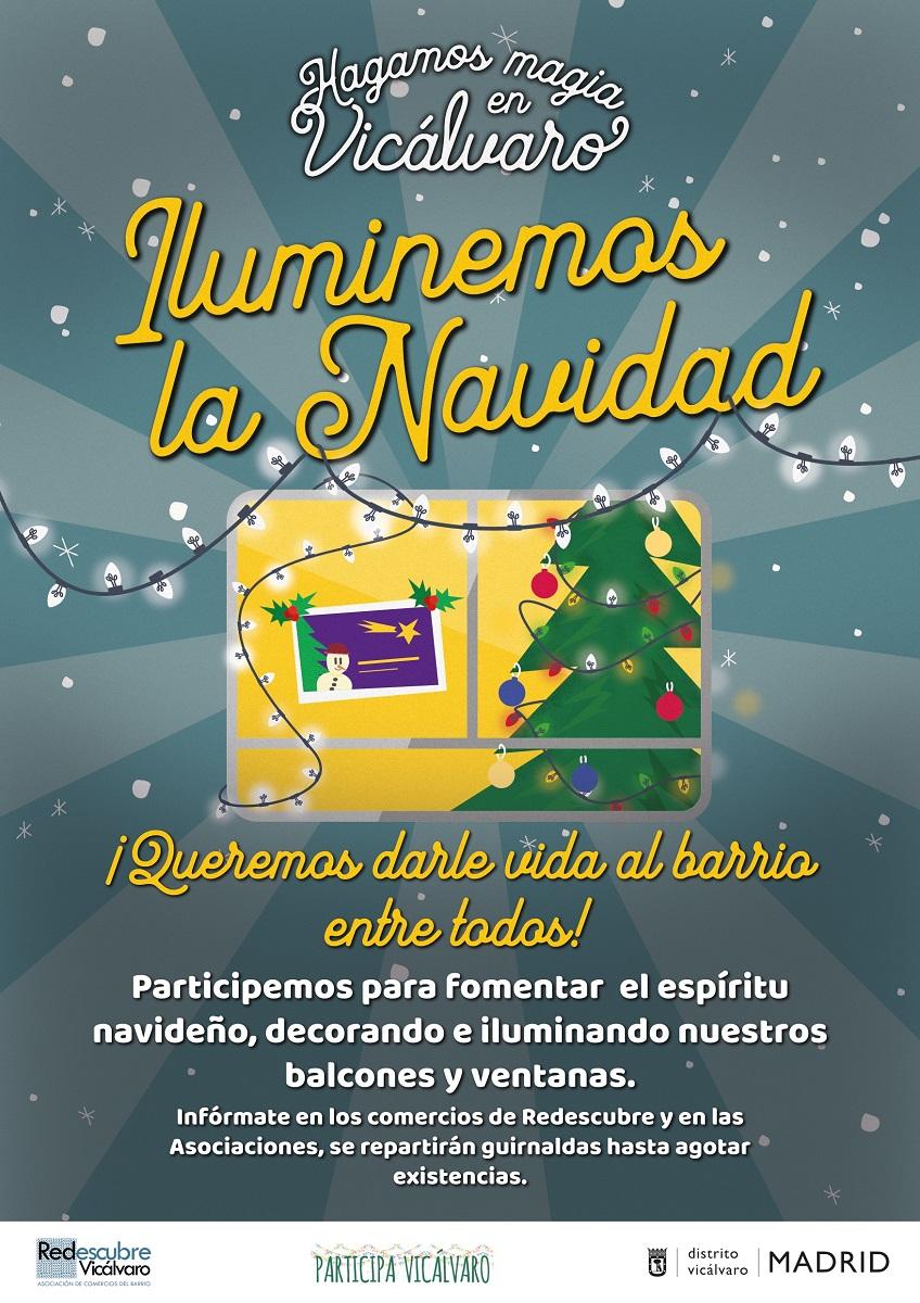 Cartel Iluminemos la Navidad Junta Municipal y Redescubre