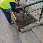 UDC Vicálvaro trabajando en jardineras de Villardondiego