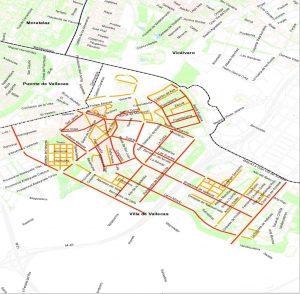 Mapa de la limpieza en el Distrito de Villa de Vallecas