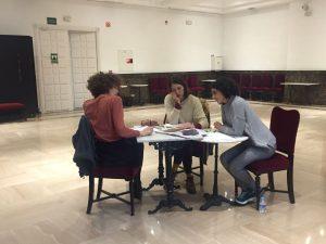 Ensayo de Nüll García, actriz vallecana seleccionada