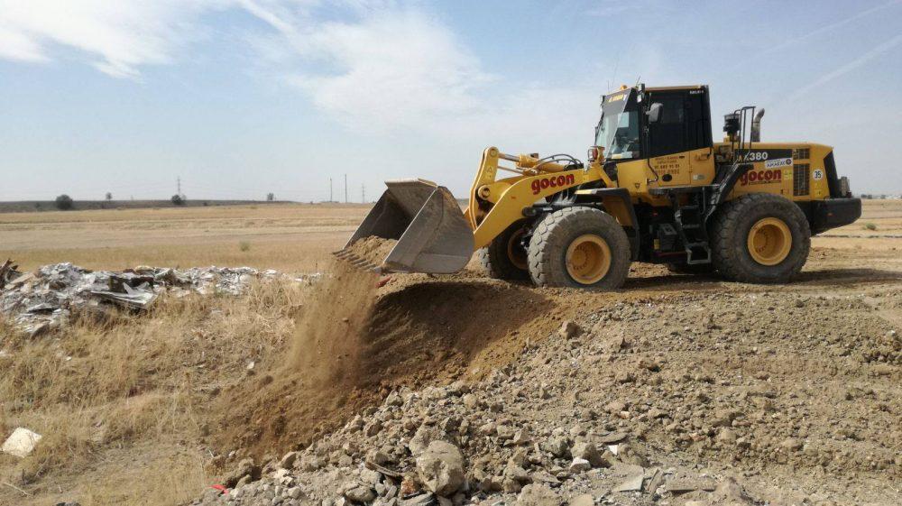 Limpieza de terrenos afectados por vertidos ilegales