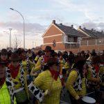Grupo musical en la Cabalgata de Villa de Vallecas