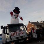 El muñeco de nieve es un anuncio de la Navidad