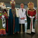 Los Reyes Magos con los niños hospitalizados en Villa de Vallecas
