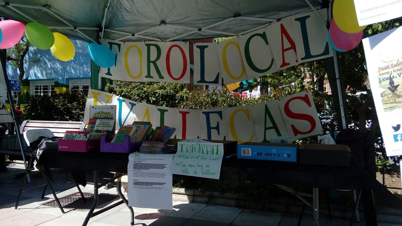 La I Feria de Asociaciones permitió presentar los proyectos realizados por los Foros Locales y las asociaciones de Villa de Vallecas