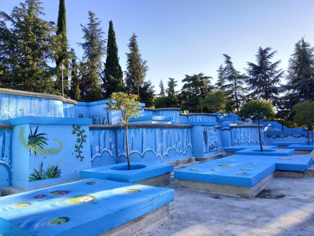 El Parque de las Cataratas estrena nuevo mural en las paredes de sus cascadas