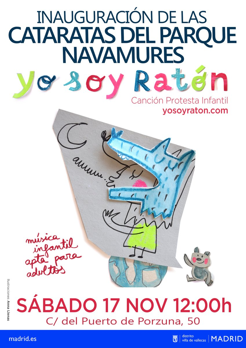 El grupo Soy Ratón ofrecerá un concierto para celebrar la inauguración de las Cataratas del Parque Navamures