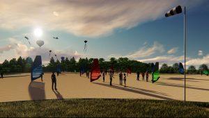 En el proyecto se contempla una zona reservada para los amantes de las cometas