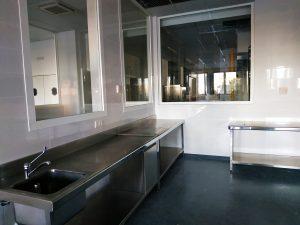 Área de cocina de la Escuela de hostelería