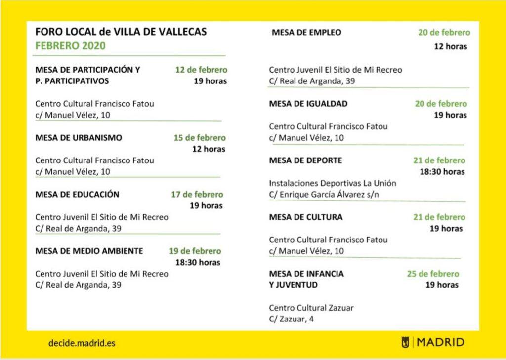 Foros locales Villa de Vallecas