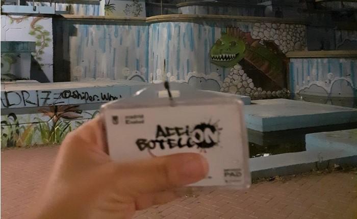 El equipo de Acción botellón en el parque de las Cataratas