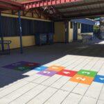 CEIP El Quijote juegos pintados en el suelo