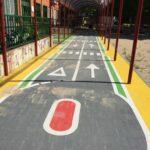 CEIP El Quijote pintura circuito seguridad vial