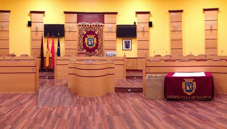 Salón de Plenos de la JMD Villa de Vallecas