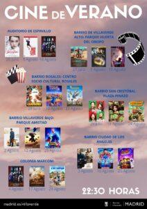 Cartelera cine de verano 2021 en Villaverde