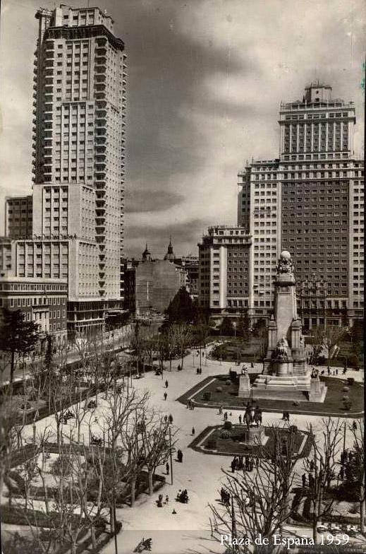 La Plaza de España en 1959