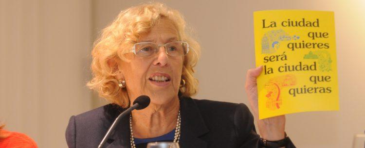 La alcaldesa, Manuela Carmena, durante el coloquio del Club Siglo XXI
