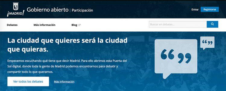 Captura de decide.madrid.es