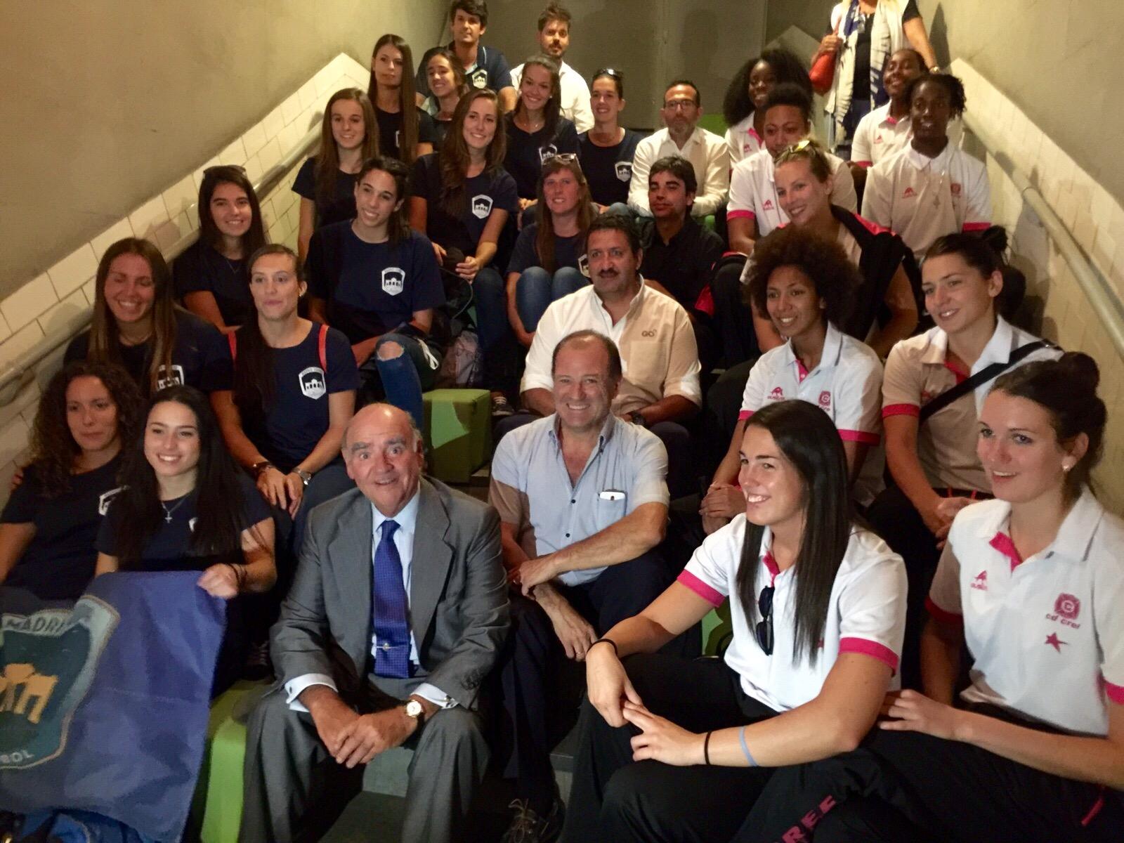 Club de Baloncesto CREF y el Club de Voleibol Madrid-Chamberí