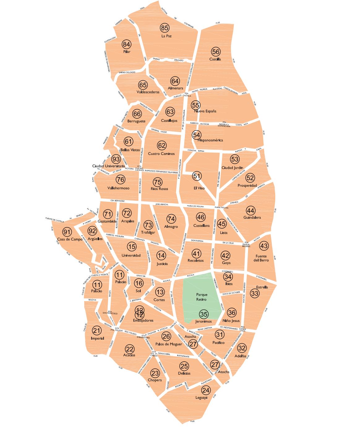 Mapa de zonas SER