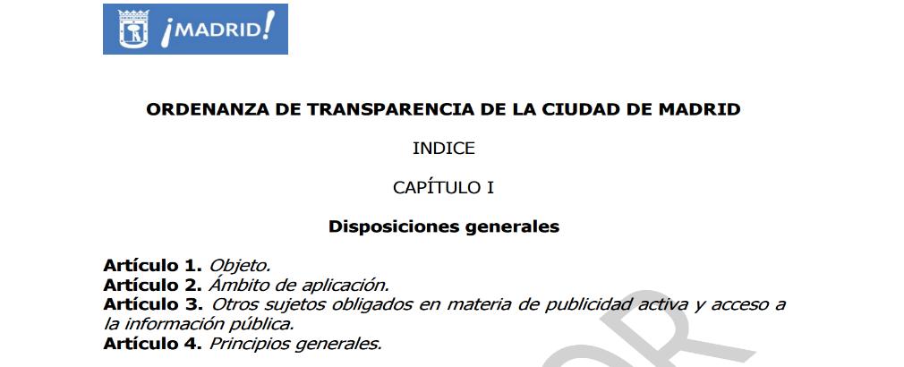 Borrador Ordenanza Transparencia