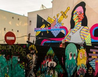 Uno de los murales de la muestra de arte urbano
