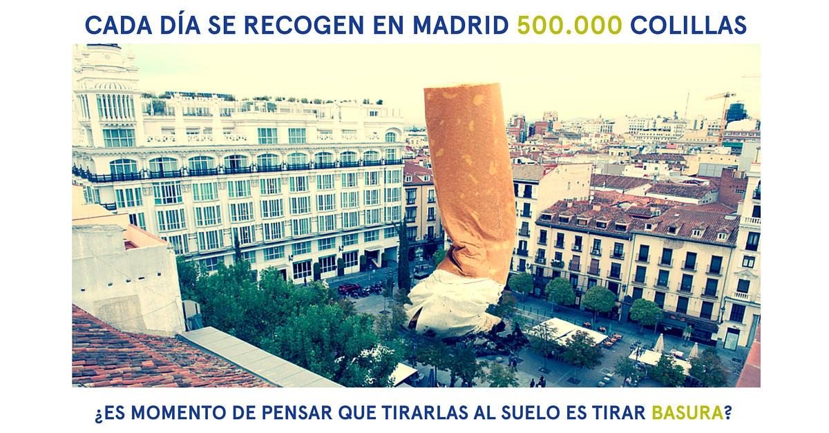 Cada día se recogen en Madrid 500.000 colillas