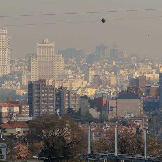 Boina en el cielo de Madrid