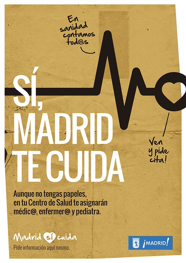 Cartel Madrid sí cuida