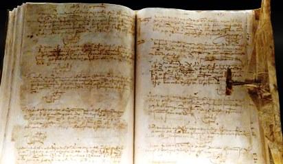 Libro de Bautismos del convento de las Trinitarias Descalzas. Exposición BNE