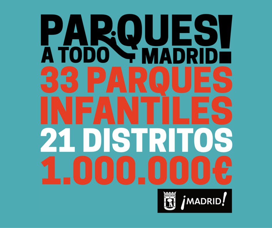 Parques infantiles a todo Madrid