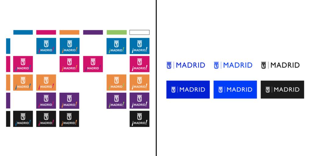 Simplificación de la marca del Ayuntamiento de Madrid