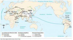 Mapa de la nueva Ruta del la Seda