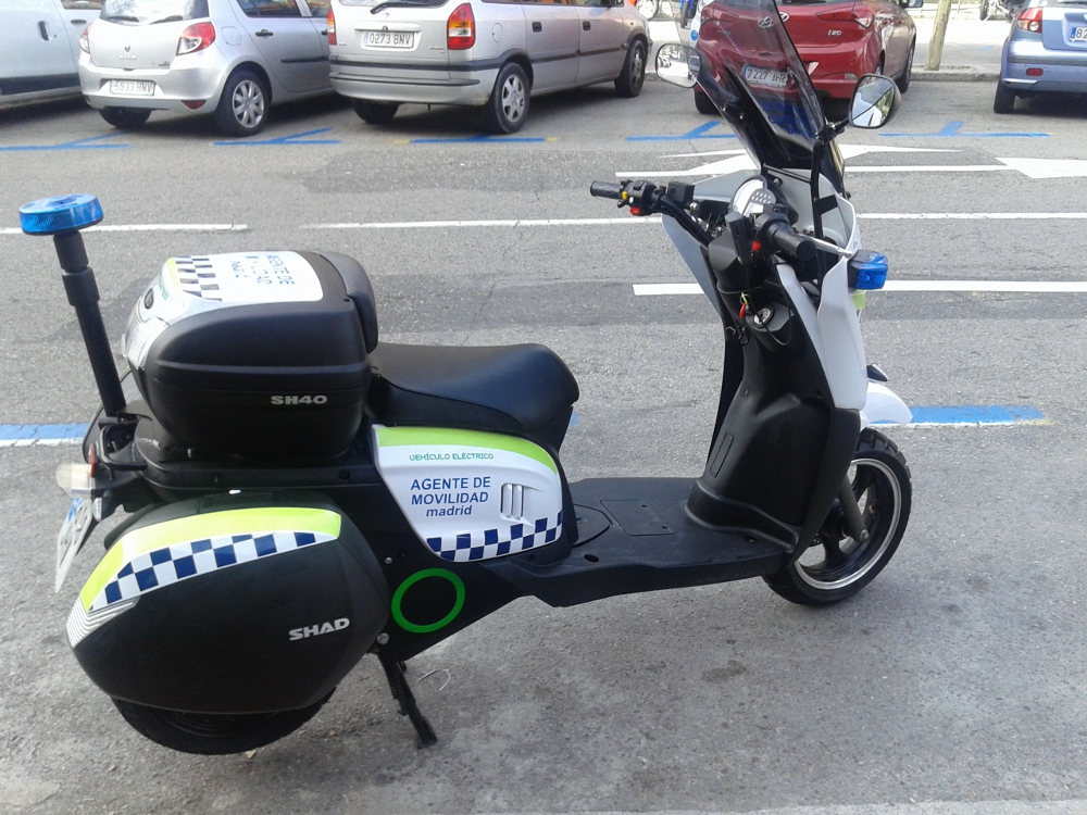 Moto eléctrica de Agentes de Movilidad