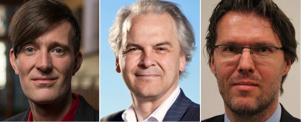 David Payot, Rémy Pagani y Uwe Serdült.
