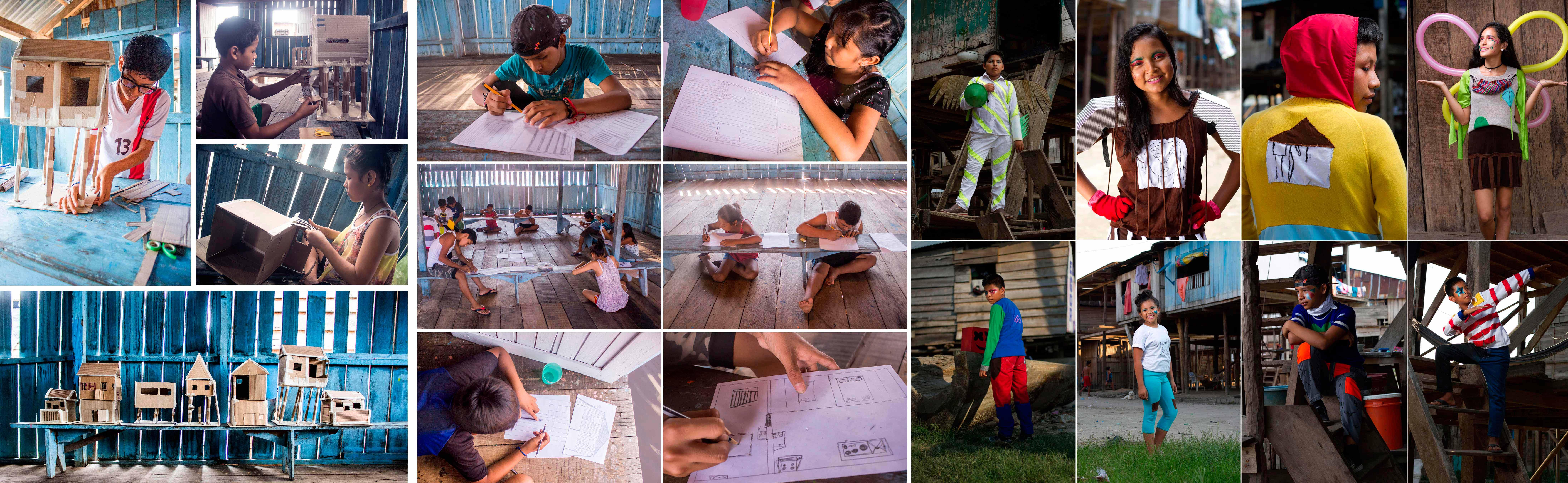 Algunos de los adolescentes peruanos de la comunidad de Pueblo Libre (Iquitos, Perú) que participaron en el proyecto 'Vistámonos de Belén' que ha obtenido el Premio 'Diseño y participación ciudadana'