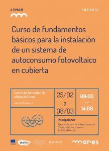 Curso para instalación de un sistema de autoconsumo fotovoltaico en cubierta